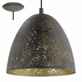 Пендел - висяща лампа 1xE27 Ø275 декор отв. Кафяво/златно SAFI
