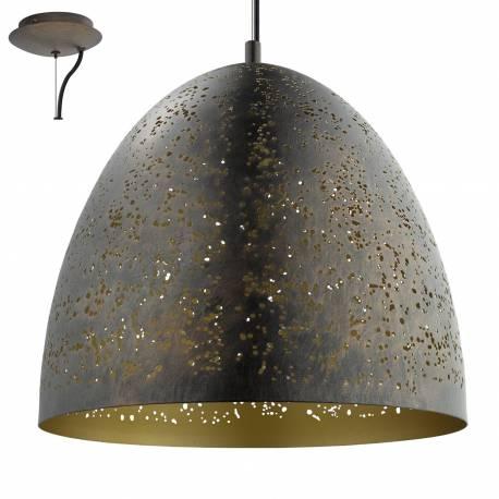 Пендел - висяща лампа 1xE27 Ø405 декор.отв кафяво/златно SAFI