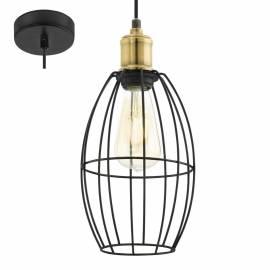 Пендел - висяща лампа 1х Ø155 черно/опушено DENHAM