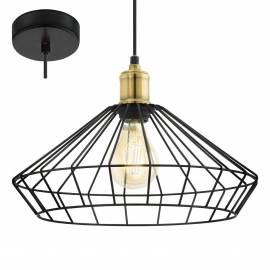 Пендел - висяща лампа 1х Ø355 черно/опушено DENHAM