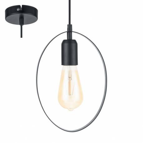 Пендел - висяща лампа 1хE27 L-180 черно BEDINGTON