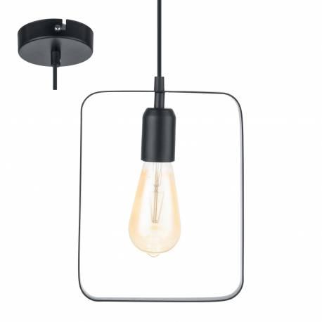 Пендел - висяща лампа 1хE27 L-200 черно BEDINGTON