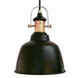 Imagén: Пендел - висяща лампа 1хE27 Ø185 черно/опушено  GILWELL