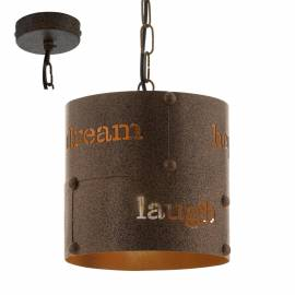 Imagén: Пендел - висяща лампа 1хE27 Ø200 златно кафяво  COLDINGHAM