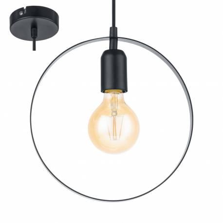 Пендел - висяща лампа 1хE27 Ø250 черно BEDINGTON
