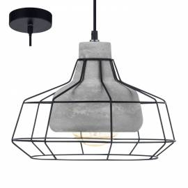 Imagén: Пендел - висяща лампа 1хE27 Ø295 черно/бетон  CONSETT