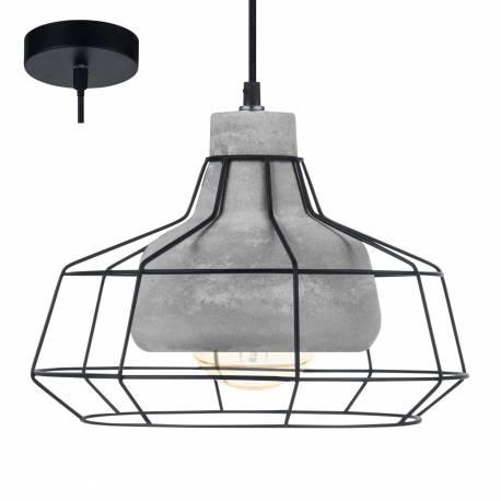 Пендел - висяща лампа 1хE27 Ø295 черно/бетон CONSETT