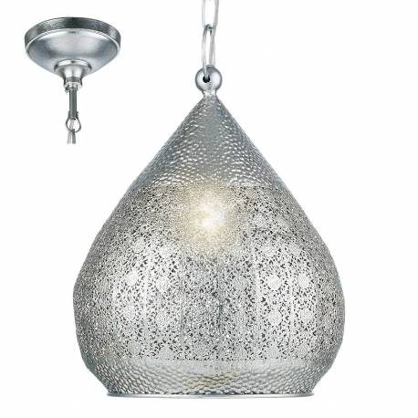 Пендел - висяща лампа 1хE27 Ø330 сребро MELILLA