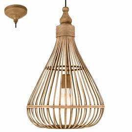 Imagén: Пендел - висяща лампа 1хE27 Ø350 бамбук  AMSFIELD