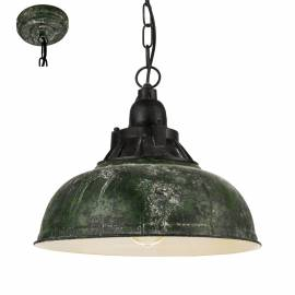 Imagén: Пендел - висяща лампа 1хE27 Ø370 Р зелено-антик/черно  GRANTHAM 1