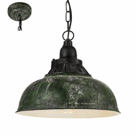 Пендел - висяща лампа 1хE27 Ø370 Р зелено-антик/черно GRANTHAM 1
