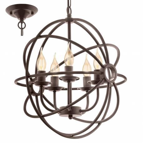 Пендел - висяща лампа 5хE14 тъмнокаф.-антик BEDINGTON