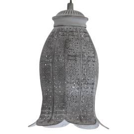 Пендел - висяща лампа E27,т.сиво, черно усукан кабел, Ø175 Н275