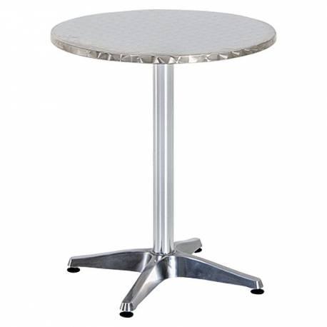 Алуминиева бистро маса, Ø60 см