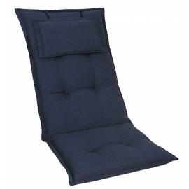 Висока възглавница за градински стол 120x52x8 см, синя