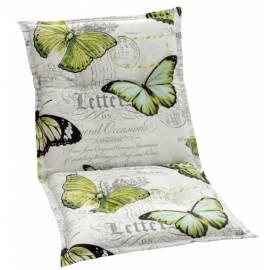 Ниска възлавница за градински стол 104x52x7см, с мотив пеперуди