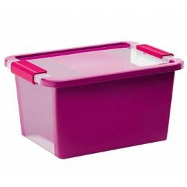 Кутия за съхранение с капак 11 л - 36.5x26x19 см, лилава