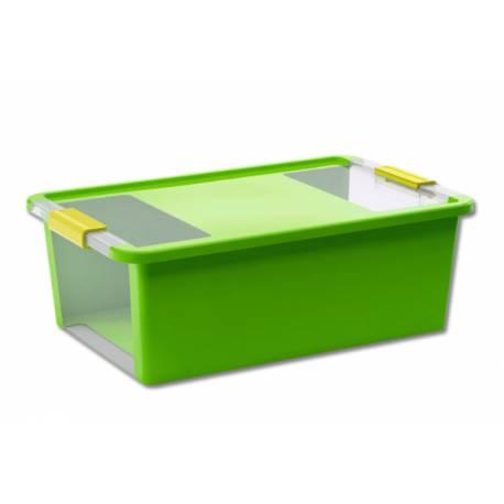 Кутия за съхранение с капак 26 л - 55x35x19 см, зелена