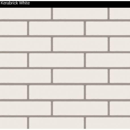 Облицовъчни тухлички Kerabrick white Flat 1.32 кв.м