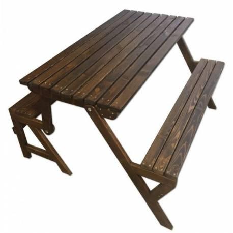 Градинска маса и пейки - дървени