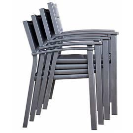 Стол с подлакътници, антрацит