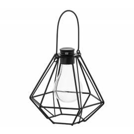 Соларна деко лампа - висяща, метал 20.5x15.5 см, топло-бяла светлина