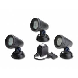 3 броя LED лампи за изкуствено езеро, черни