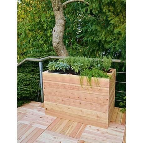Висока леха - конструкция от дърво 57,5 x 102 x 72  см