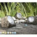 Imagén: Соларни лампи камъни Rock (3бр.) - 160 x 106 x 116 мм