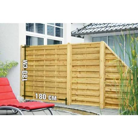 Дървена ограда - 180 x 180 см (плътна)