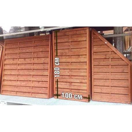Дървена ограда - 100 x 180 см