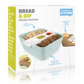 Кутия за хляб, купички за разядки и дъска за рязане - светло синя - TOMORROW`S KITCHEN