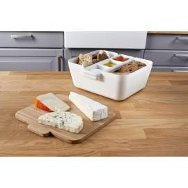 Кутия за хляб, купички за разядки и дъска за рязане - бяла - TOMORROW`S KITCHEN