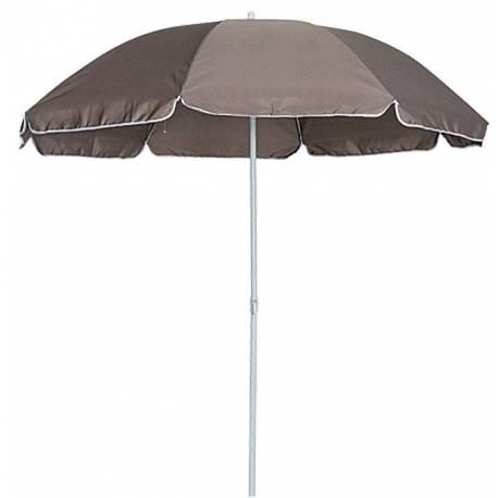 Плажен чадър 2.5 м, кафяв с чупещо се рамо