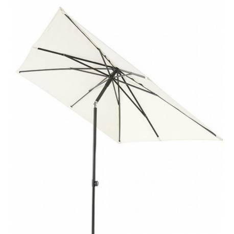 Градински чадър - 200x250 см, екрю, с манивела