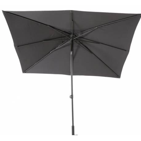 Градински чадър - 200x250 см, антрацит, с манивела