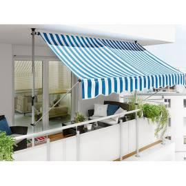 Тента-сенник 250х130 см, синьо-бяла, свободностояща