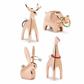 """Поставка за пръстени """"ANIGRAM GIRAFFE"""" - жираф - цвят мед - UMBRA"""