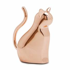 """Поставка за пръстени """"ANIGRAM CAT"""" - котка - цвят мед - UMBRA"""