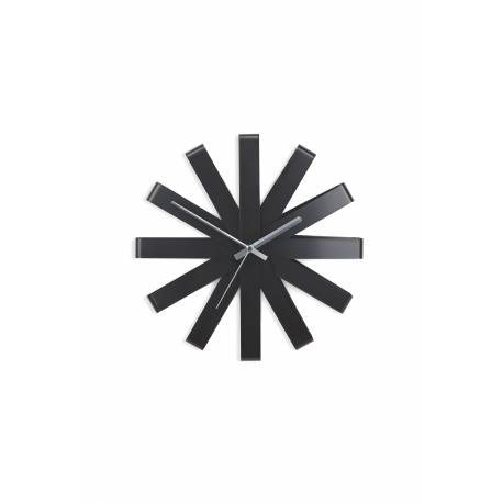 """Часовник за стена """"RIBBON"""" - цвят черен - UMBRA"""