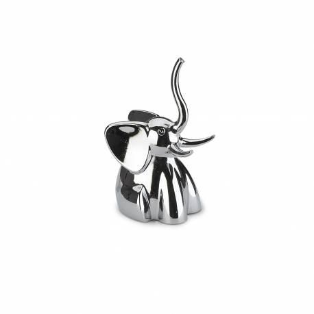 """Поставка за пръстени """"ZOOLA ELEPHANT"""" - слон - цвят хром - UMBRA"""