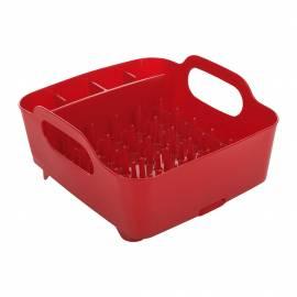 """Сушилник за съдове """"TUB"""" - цвят червен - UMBRA"""