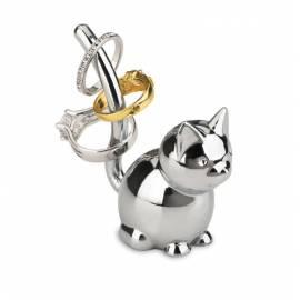 """Поставка за пръстени """"ZOOLA CAT"""" - котка - цвят хром - UMBRA"""