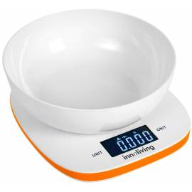 Електронна кухненска везна с купа - оранжева - Innoliving