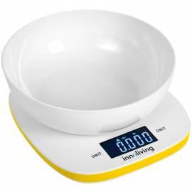 Електронна кухненска везна с купа - жълта - Innoliving