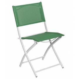 Градински стол - метален, зелен