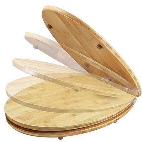 Тоалетна седалка - естествено дърво, bambuk, с метални шарнири