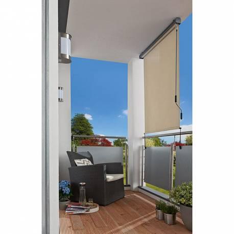 Тента за балкон - вертикална - 140x250 см, с манивела, бежова