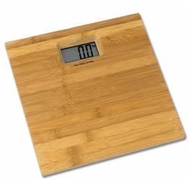 Кантар - електронен 31x31x3,5 см,  бамбук