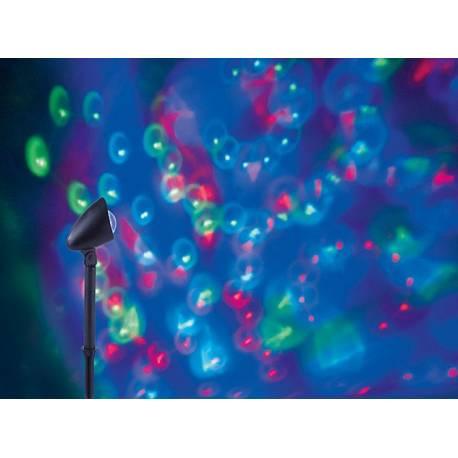 Градинска LED лампа- прожектор, диско ефект IP44, 3 W